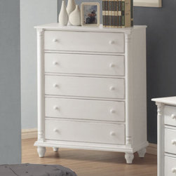 Coaster - Kayla Chest - The Kayla collection is crafted with tropical hardwoods and veneers in a white finish.