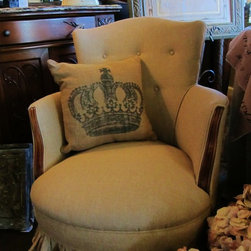 French Country Shabby Chic Chair - Custom upholstry