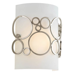 Progress Lighting - Progress Lighting P7056-09 1-Light 1/2 Pocket Sconce With White Acrylic Diffuser - Progress Lighting P7056-09 1-Light 1/2 Pocket Sconce With White Acrylic Diffuser