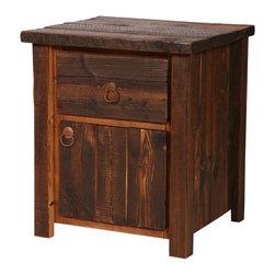 Rustic Heritage 1-Drawer 1-Door Nightstand - Rustic Heritage 1-Drawer 1-Door Nightstand - 50 lbs