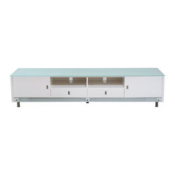 83 Inch Low Profile Lighted Plasma Cabinet by Diamond Sofa