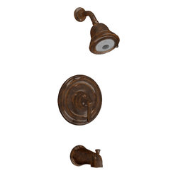 "American Standard - American Standard T420.502.224 Portsmouth Bath/Shower Trim Kit-Oil Rubbed Bronze - American Standard T420.502.224 Portsmouth FloWise Bath/Shower Trim Kit,  Oil Rubbed Bronze. This Bath and Shower Trim Kit features water saving FloWise 3-function showerhead saving up to 40% in water usage, Cast Brass Valve Body: Durable - Quality that will last a lifetime. Ideal material for prolonged contact with water, Adjustable Hot Limit Safety Stop: Limits the amount of hot water allowed to mix with cold. Reduces the risk of accidental scalding, Wide Rough-in Range: From 1-5/8"" to 3-1/4"", metal slip-on diverter tub spout."