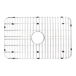 Alfi brand - Rectangular Kitchen Sink Grid - Protects the sink from nicks or cracks. Reduces the need for cleaning marks or stains of the bottom of the sink. Protect the surface from scratches or stains. Stands on durable plastic feet raised about half an inch above the bottom of the sink. Warranty: One year. Made from stainless steel. Stainless steel finish. Outer wire thickness: 6 mm. Inner wire thickness: 3 mm. Overall: 17.13 in. L x 27.5 in. W (1.35 lbs.). Care InstructionsProtect your investment with this solid stainless steel grid that sits on the bottom of your fireclay sink. This model also fits perfectly into the bamboo farm sink. Custom made to fit sink model AB510 and AB3021Made of solid stainless steel, this grid is built tough and made to last the test of time.