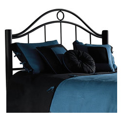 Fashion Bed - Fashion Bed Linden Metal Headboard in Ebony Metal Finish-Queen - Fashion Bed - Headboards - B15315 - Large sturdy posts and ascending spindles all in a striking ebony finish make the Linden headboard one that retains a nice style within its functional appeal.