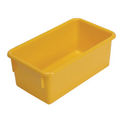 """Steffywood - Steffywood Home Plastic Storage Box Cabinet Yellow Tote Tray 13""""L X 8""""W X 5""""H - Plastic, durable tote trays measure 5""""H X 8""""W X 13""""L and fit our 15"""" deep storage cabinets. All edges are rounded and smooth. GreenGuard certified.Fits our 15""""cabinets. GreenGuard certified. All edges rounded and smooth."""