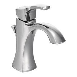 Moen - Moen One Handle High Arc Bathroom Faucet, Chrome (6903) - Moen 6903 One Handle High Arc Bathroom Faucet, Chrome