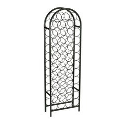 Old Dutch International - 47-Bottle Arch Wine Rack - Bottle capacity: 47. Made from powder coated steel. Matte black color. Minimal assembly required. 16.75 in. L x 8 in. W x 53.5 in. H (12.6 lbs.)Graceful, classic styling enhances any decor.