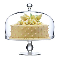 Luigi Bormioli - Luigi Bormioli Michelangelo Glass Footed Glass Cake Plate with Dome - RM106 - Shop for Serveware from Hayneedle.com! Show off your sweet cake creations with the Luigi Bormioli Michelangelo Glass Footed Glass Cake Plate with Dome. Crafted of crystal-clear smooth glass this cake plate features a sturdy base and elegant dome lid. This piece is constructed using Luigi Bormioli's patented Sparkx technology for strength durability and clarity.About Luigi Bormioli:Luigi Bormioli the first glass manufacturer to develop a machine-blown process able to replicate hand-made glassware founded his company in 1946 in Parma Italy. The company's Fragrance Container Division gave them a major boost in the 1950s and remains an industry leader and testament to Luigi Bormioli's dedication to quality and beauty. One of the most recognizable glassware brands today this company delivers unique designs of superior quality. From the ultraclear durable Sparkx glassware line to the bowl shapes fine rims and beautifully drawn stems of the SON.hyx line Luigi Bormioli's products are built to add elegance and quality to your kitchen.