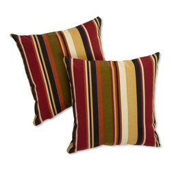 Blazing Needles - Blazing Needles Outdoor 25 x 25 Jumbo Throw Pillows - Set of 2 - 9940-S-2-REO-12 - Shop for Cushions and Pads from Hayneedle.com! Make your outdoor entertainment area even cozier with the colorful style of the Blazing Needles Outdoor 25 in. Jumbo Throw Pillows - Set of 2. These oversized throw pillows offer a soft poly fill with water and fade resistant covers with stylish stripes. Choose from a variety of color options to brighten up any setting. Main image shown is *McCoury Spice color option. About Blazing NeedlesBlazing Needles L.P. specializes in the manufacture of cushions pillows and futons. As a sister company of International Caravan Inc. Blazing Needles provides a wide variety of cushions to fit the frames and furniture pieces made by International Caravan. In particular Blazing Needles' production of papasan cushions occupies a unique niche within their industry and sets them apart as a prime supplier for certain retailers. Other services they provide include contract filling sewing and import sourcing. The headquarters of International Caravan and Blazing Needles is located in Fort Worth Texas.