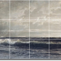Picture-Tiles, LLC - Near Lands End Cornwall Tile Mural By William Richards - * MURAL SIZE: 24x48 inch tile mural using (18) 8x8 ceramic tiles-satin finish.