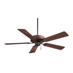 Minka Aire - Mink Aire Contractor Ceiling Fan in Antique Bronze - Minka Aire Contractor Model F547-ABR in Antique Bronze with Weathered Pine Finished Blades.