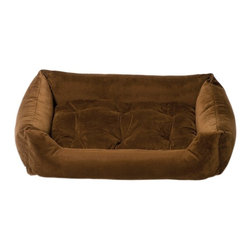 Jax & Bones - Jax & Bones Everyday Nest Bed Molasses Brown Medium - Built like a sofa with extra length for dogs who like to stretch. Made with heavy weight velour fabrics and filled with Sustainafill, our signature eco-friendly fiber. Fabric is 100% machine washable.