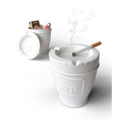 Suck Uk - Urn Ashtray - If you want to ensure your secrets stay safe with you - store them in an urn ashtray. Simply lift off the ceramic lid ashtray to the hidden storage underneath and voila! A hidden space for your hidden gems.
