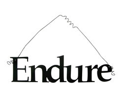 Inspirational Word ENDURE Wall Hanging Home Decor Metal - This listing is for one inspirational word, ENDURE