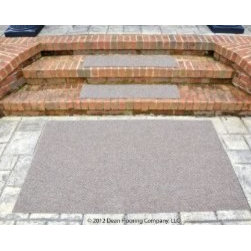 """Dean Flooring Company - Dean Indoor/Outdoor Carpet Non Skid Stair Treads and Mat - Beige Sand 36""""x9"""" - Dean Premium Indoor/Outdoor Carpet Non Skid Stair Treads and Mat - Beige Sand 36"""" x 9"""" (Set of 3) Plus a Matching 3' x 5' Landing Mat : Heavy Duty Indoor/Outdoor Non-Skid Walk-Off Carpet Stair Treads by Dean Flooring Company. Color: Beige Sand. Face: 100% Hi UV stabilized polypropylene fiber. Backing: All weather non-skid latex rubber. Edges: Will not ravel or delaminate. Size: 36"""" x 9"""" each. Each set includes three stair treads and a matching 3' x 5' landing mat. Fade resistant. Commercial or residential. Helps prevent slips on your stairs. Great for helping your dog easily navigate your slippery staircase. Reduces noise. Reduces wear and tear on your stairs. Easy to clean (hose off, sweep, vacuum, spot clean). Attractive: adds a fresh new look to your staircase. Easy DIY installation with heavy duty indoor/outdoor double sided carpet tape (not included - sold separately). Made in the USA! Add a touch of warmth and style to your home today with stair treads from Dean Flooring Company."""
