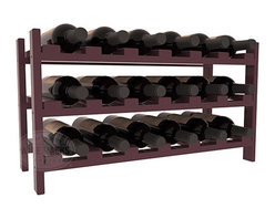 18 Bottle Stackable Wine Rack in Pine with Black Stain + Satin Finish - Expansion to the next level! Stack these 18 bottle kits as high as the ceiling or place a single one on a counter top. Designed with emphasis on function and flexibility, these DIY wine racks are perfect for young collections and expert connoisseurs.