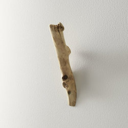 Natural Driftwood Wall Hook - There are a million ways you could use these wooden wall hooks: for coats in the entryway, towels in the bathroom or even aprons in the kitchen.