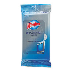 Windex - Windex Electronics Cleaner, 25 Wipes - Protect and clean sensitive electronics with Windex pretreated, scratch-free wipes. Simple and safe, they remove dust, dirt and grime computer screens, laptops, keyboards, e-readers, cell phones, smartphones and more. Quick-drying, gentle formula dries streak-free.