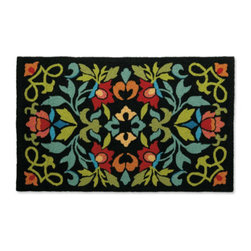 Grandin Road - Chantilly Outdoor Mat - Chantilly's design recalls the floral patterns of classic handmade quilts. Hand-hooked construction. Polypropylene fibers shrug off elements. UV stabilized to resist fading. Outdoor/indoor versatility. Present an elegant seasonal greeting at your threshold with the charming floral design of our Chantilly Outdoor Mat. Chantilly's design recalls the floral patterns of classic handmade quilts .  .  .  .  . Spot or hose clean . A Grandin Road Exclusive.
