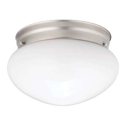Kichler Lighting - Kichler Lighting 206NI Ceiling Space Utilitarian Flush Mount In Brushed Nickel - Kichler Lighting 206NI Ceiling Space Utilitarian Flush Mount In Brushed Nickel