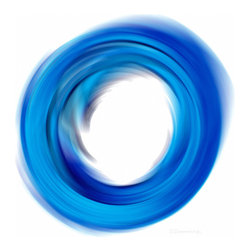 Transforming Energy Series - Soft Blue Enso - Abstract Art By Sharon Cummings. Buy Fine Art Prints Online.