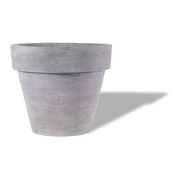 Amedeo Design, LLC - USA - Modern Rimmed - Our Modern Rimmed Pot is simple yet modern in both design and function. Very versatile this piece comes in a variety of colors and sizes. When built with our lightweight weatherproof ResinStone, these planters will remain a durable addition for many years to come. Made in USA.
