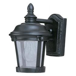 Joshua Marshal - One Light Bronze Seedy Glass Wall Lantern - One Light Bronze Seedy Glass Wall Lantern