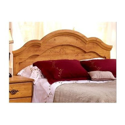 South Shore - Pine Finish Beveled Arch Crest Headboard (Ful - Choose Size: FullThe classic beauty that this headboard will bring to the room will add an air of romance instantly.  The detail that has gone into crafting this headboard is amazing and will draw the eye of anyone that enters the bedroom.  The pine finish is warm and the massive headboard will look great when paired with other pine furnishings such as a bed side table or even a mirror.  Classy, yet fashionable, this rich pine headboard is perfect for any room.  It is a full sized headboard which fits just about any full sized bed, and the pine finish blends in with any color palate, so it is a perfect fit for any room. * Manufactured from eco-friendly, EPP-compliant laminated particle boardcarrying the Forest Stewardship Council (FSC) certification. Particle board construction. Assembly required. Manufacturer's Five year limited warrantyRich Pine finish65 W x 3 D x 49 H in.