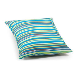Zuo Modern - Large Pillow in Multicolor stripe - Water resistant polyblend. Warranty: One year limited. Made from foam. No assembly required. 21.3 in. L x 21.3 in. W x 6.7 in. H (3.1 lbs.)