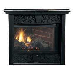 Majestic Products - Majestic CFX24NVDW Chesapeake Vent-Free Gas Fireplace - Majestic Chesapeake vent free fireplace system, enjoying the warmth and beauty of a fire has never been easier. Beauty and convenience come standard with the Chesapeake which features the Triple Play Burner System, strikingly realistic log set, firebox, a finely crafted mantel (your choice of Dark Walnut or Unfinished), and exquisite decorative facing. Available in two sizes and up to 26,000 BTUs, the Chesapeake contains everything you need to add an efficient, elegant fireplace to your home in about an hour. Enjoy even more convenience with optional remotes to operate your fireplace from the comfort of your couch. Other optional accessories include a Cottage Clay firebrick and variable forced air blower.
