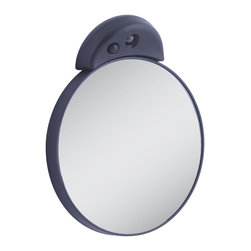 Zadro - Zadro Lighted 15X Spot Mirror In Black-Fc15L - The 15X LED Lighted Spot Mirror mounts to any mirror or flat, smooth surface. Its versatile design makes it the ideal spot mirror for any situation. This mirror is perfect for applying make-up or inserting contacts lenses.