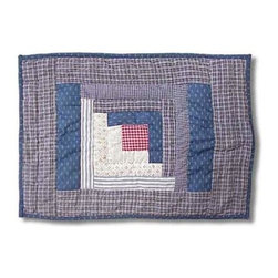 Patch Magic - Sail Log Cabin Place Mat - 13 in. W x 19 in. L. 100% Cotton. Handmade, hand quilted. Machine washable. Line or flat dry only
