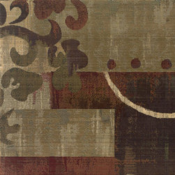 Oriental Weavers - generations nouveau carpet (6x9) - The generations collection of indoor carpets features a machine made 100% polypropylene cross-woven construction designed for durability. The classic color palette includes reds, greens, browns and plums that vary from soft to deep tones encompassing the rich colors of traditional rugs in a contemporary form.