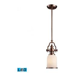 ELK Lighting - One Light Antique Copper Down Mini Pendant - One Light Antique Copper Down Mini Pendant