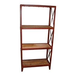 Silk Plants Direct - Silk Plants Direct Reclaimed Wood and Iron Shelf (Pack of 1) - Silk Plants Direct specializes in manufacturing, design and supply of the most life-like, premium quality artificial plants, trees, flowers, arrangements, topiaries and containers for home, office and commercial use. Our Reclaimed Wood and Iron Shelf includes the following:
