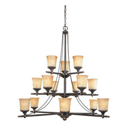 """Designers Fountain - Designers Fountain Austin Traditional Chandelier X-DSW-518379 - A worldly inspiration takes form in a casual rustic Spanish style. The Austin collection's handsomely styled ironwork and hand forged details of a seasoned craftsman adds distinctive design with a bold presence. Finished in """"Weathered Saddle"""" with """"Satin Crepe"""" finished glass shades."""