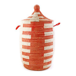 For SALE - Red Swahili woven laundry hamper