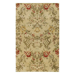 Kaleen - Kaleen Magi Garden of Eden Linen Rug - This is no garden-variety rug. It has a beautiful motif that's elegant and understated, allowing you to place it just about anywhere. And, the neutral color palette will complement — rather than compete with — your existing decor.