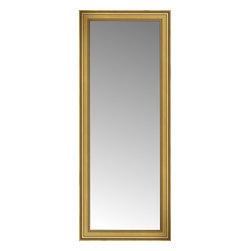 """Posters 2 Prints, LLC - 29"""" x 69"""" Arqadia Gold Traditional Custom Framed Mirror - 29"""" x 69"""" Custom Framed Mirror made by Posters 2 Prints. Standard glass with unrivaled selection of crafted mirror frames.  Protected with category II safety backing to keep glass fragments together should the mirror be accidentally broken.  Safe arrival guaranteed.  Made in the United States of America"""