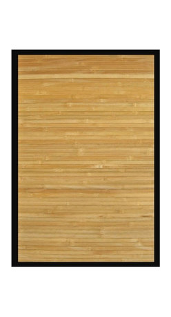 Anji Mountain - Contemporary Natural Bamboo Rug - 4' x 6' - Bamboo rugs have been a traditional floor covering in the Far East for centuries. They add a touch of organic, practical elegance to any space. Our bamboo rugs are made of the finest quality, sustainably harvested bamboo in the world for supreme durability. Kiln-dried bamboo is machine-planed and sanded for a smooth finish. This classic collection offers a variety of intriguing designs and brilliant colors to choose from.