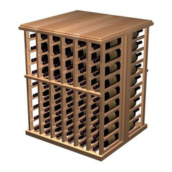 Wine Cellar Innovations - Designer 108-Bottle Tasting Table (Premium Redwood - Light Stain) - Choose Wood Type and Stain: Premium Redwood - Light Stain. Bottle capacity: 108. Six column wine rack. Beveled ends and rounded edges. Labels are safe from tearing. 28.38 in. W x 29.06 in. D x 34.88 in. H (59 lbs.). Designer collection. Made in USA. Warranty. Assembly InstructionsEnhance the look and mood of your wine cellar with functional working space and extra bottle wine storage. Tasting Tables create the perfect spot for decanting wine and taking inventory of your collection.