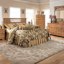 """Kids Furniture - With the beautiful country design of the """" Cottage Replicated Pine Grain"""" bedroom collection come to life with the rustic following details and a warm inviting finish to create the ultimate in relaxing bedroom decor. With the replicated pine grain covering the raised panel details perfectly complemented by the antique color hardware with brass color highlights, this collection truly captures the essence of Early American country design. The decorative scrolling vine accents perfectly complete the overall atmosphere of this country furniture. Create a relaxing rustic getaway in your home with the beautiful country style of the """" Cottage Replicated Pine Grain"""" bedroom collection."""