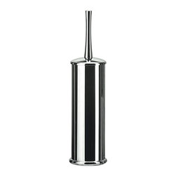 KohINoor - Koko 5050KK Toilet Brush Holder in Chrome - Koko 5050 by Modo Bath 3.6 Dia. x 14.6 Toilet Brush Holder, Galvanized Chromed Abs, Transparent Polycarbonate, Inside Container in Polypropylene