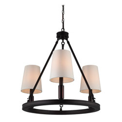 Feiss - Feiss F2921/3ORB Lismore 3 Light Oil Rubbed Bronze Chandelier - Finish: Oil Rubbed Bronze
