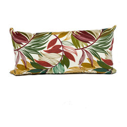 TKC - Pair of New Decorative Outdoor Throw Pillows Rectangle - 11x22 - Sesame Palm - Help make your outdoor space inviting with the addition of outdoor throw pillows.