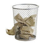Design Ideas - Net Trash Can, Silver, Silver - Nothing but Net ... The net pattern giving the Net Trash Can its namesake has a modern and industrial look. It has a durable and strong as it was cut from a stretched sheet of solid steel.