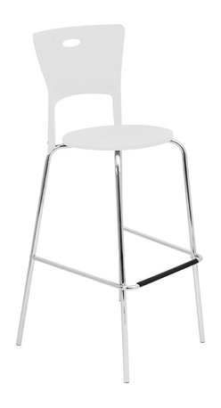 "Lumisource - Mimi Bar Stool, White - 18"" L x 22"" W x 44.75"" H"