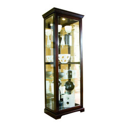 Pulaski Furniture - Two Way Sliding Curio in Chocolate Cherry II by Pulaski Furniture - Two Way ...