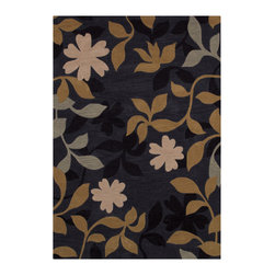 """Couristan - Ambrosia Secret Garden Rug 4785/0827 - 2'3"""" x 3'9"""" - These modern, elegant area rugs offer a bold color palette that can serve as either the foundation of the room, or act as the unifying piece that ties everything together. Take advantage of the collection's large-scale floral designs which have been designed to enlarge the appearance of any setting needing the extra sense of dimension and depth. These beautiful floral designs are a great way to add a pop to any room, from the foyer to the bedroom."""