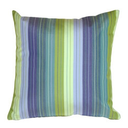 Pillow Decor - Pillow Decor - Sunbrella Seville Seaside 20 x 20 Outdoor Pillow - Sunbrella's Seville Seaside outdoor fabric. The refreshing color combination gives your outdoor room the dash of contemporary style it needs. Add comfort and softness to your outdoor furniture. Coordinates perfectly with the lawn and the pool! Mix and match this pillow with the striped and solid fabrics in the series.